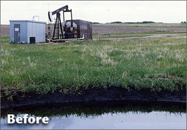Oil & Gas Abandonment Services - Abandonment Before - Drill Site - CBW Resource Consultants